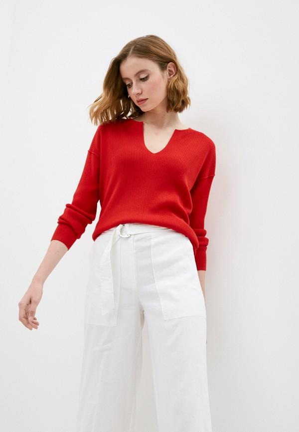 женский пуловер calvin klein, красный