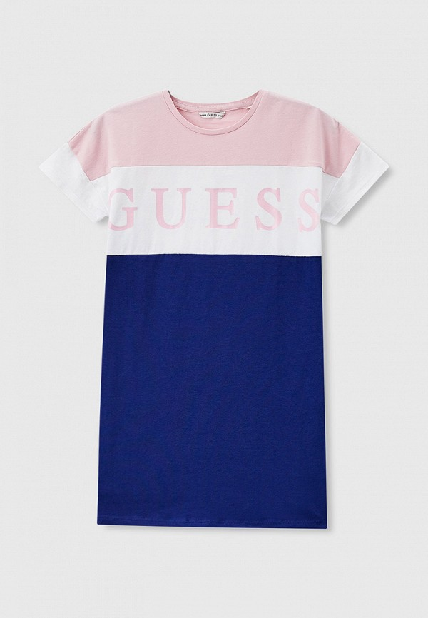 повседневные платье guess для девочки, синее
