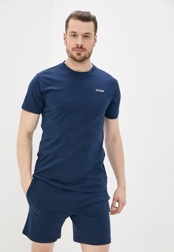 мужская пижама guess, синяя