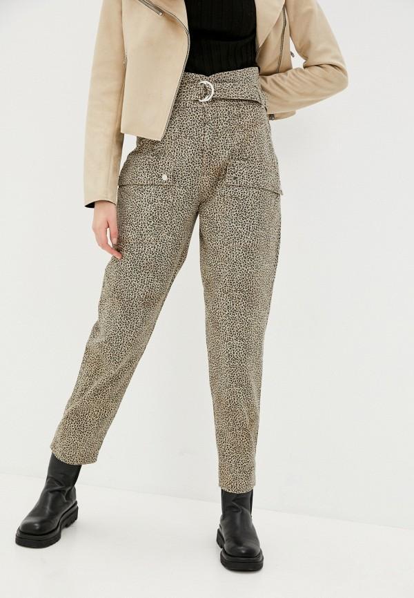 женские повседневные брюки guess, бежевые