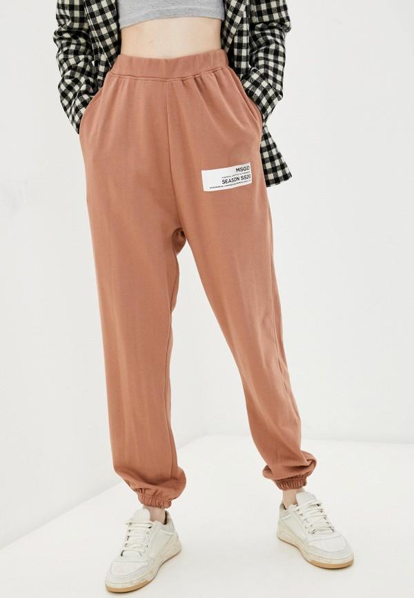 женские спортивные брюки missguided, коричневые
