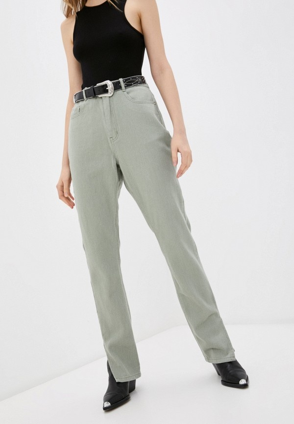 женские повседневные брюки missguided, хаки