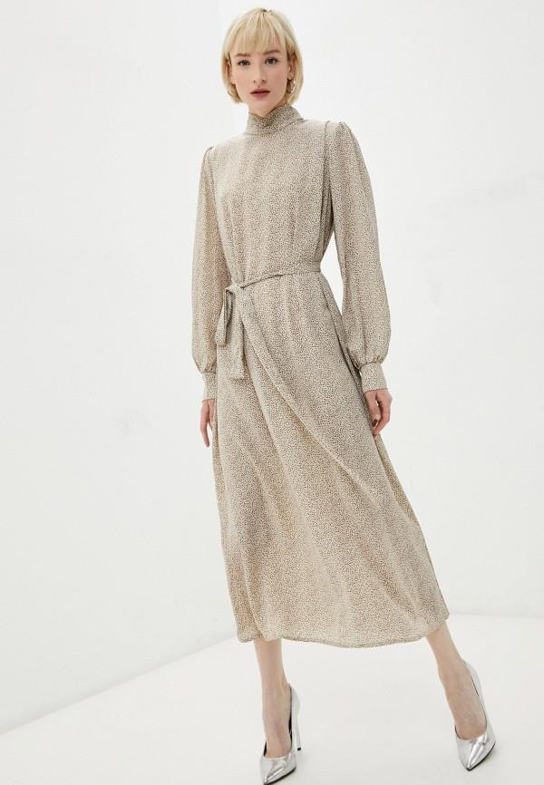 женское повседневные платье missguided, бежевое