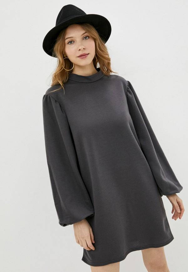 женское повседневные платье missguided, серое