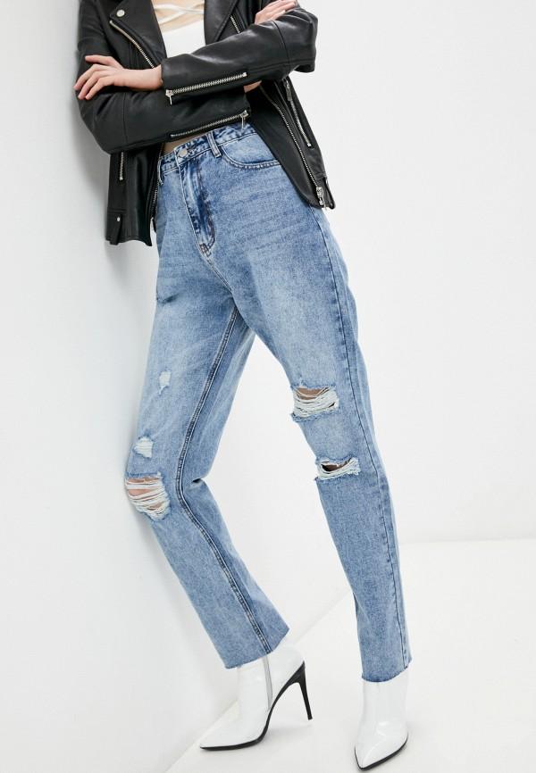 женские прямые джинсы missguided, голубые