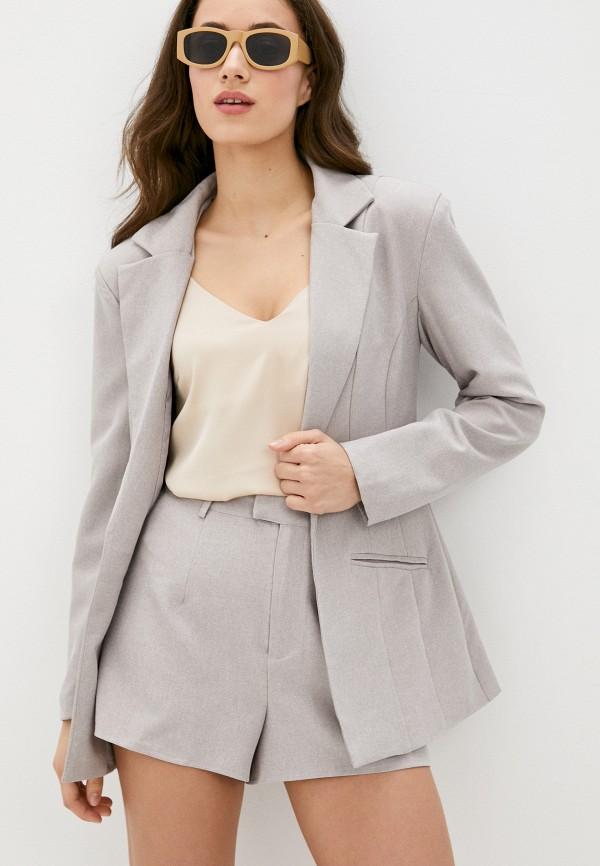 женский пиджак missguided, бежевый