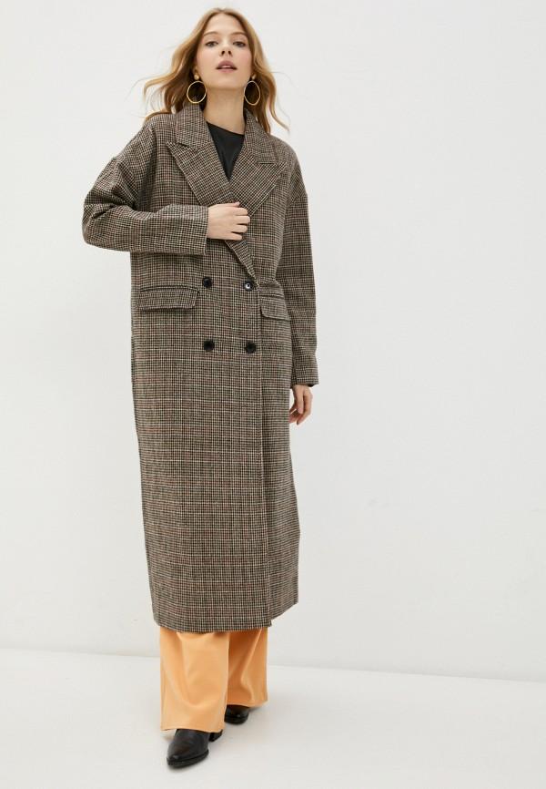 женское пальто missguided, коричневое