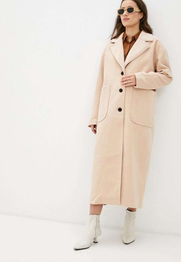 женское пальто missguided, бежевое