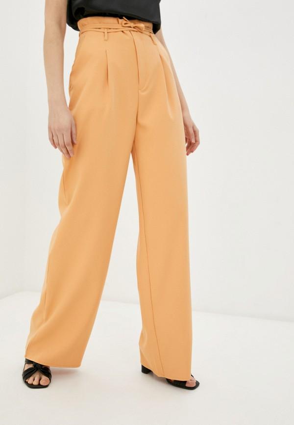 женские повседневные брюки missguided, оранжевые