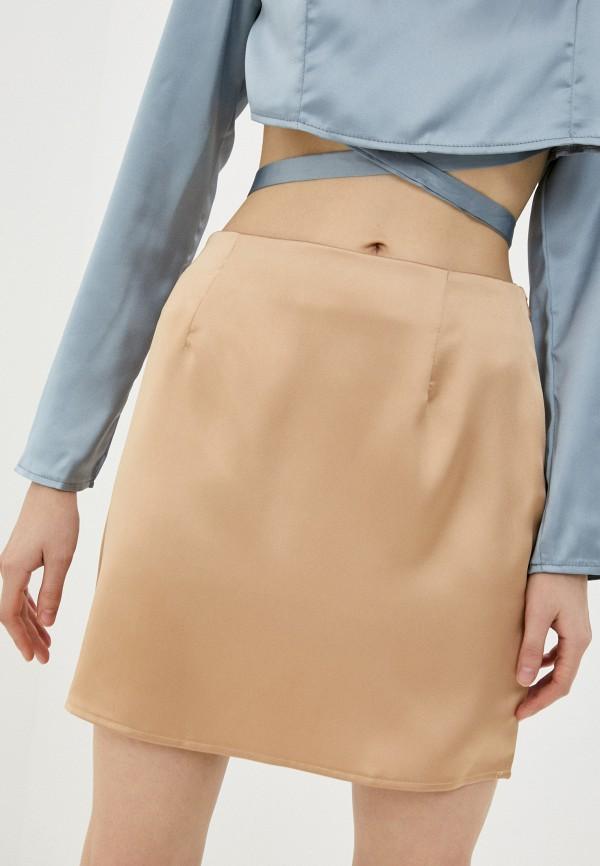 женская прямые юбка missguided, бежевая