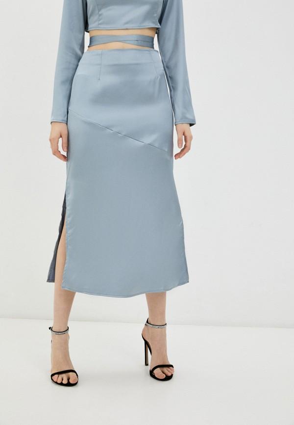 женская прямые юбка missguided, голубая