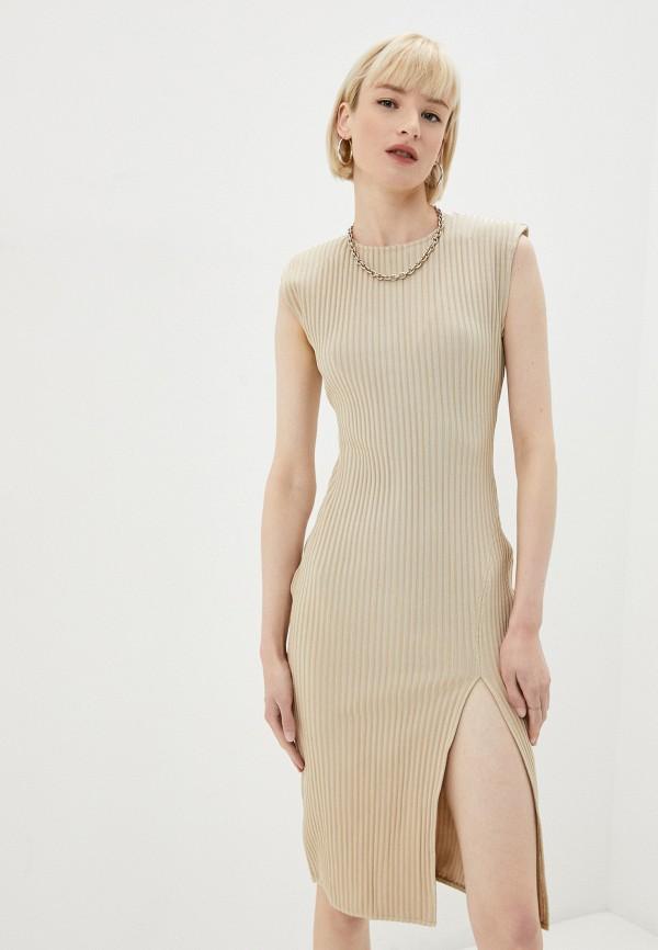 женское платье missguided, бежевое