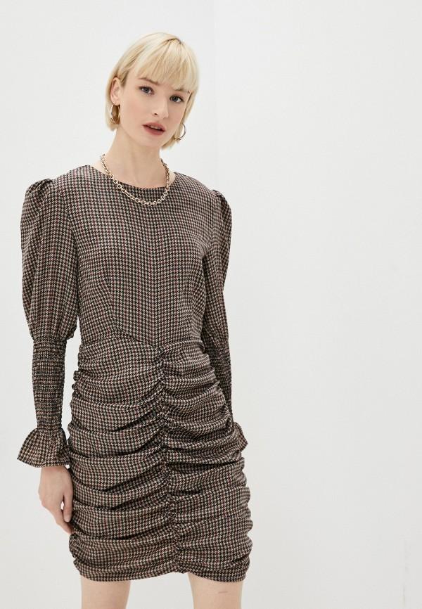 женское платье-футляр missguided, коричневое
