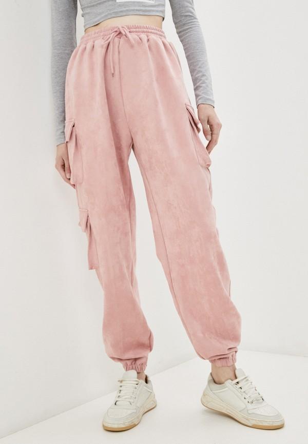 женские спортивные брюки missguided, розовые