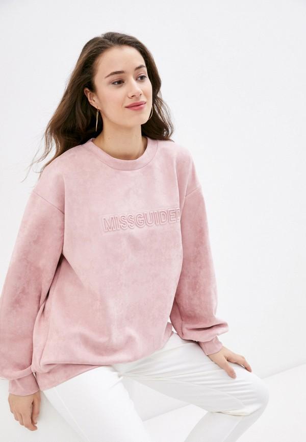 женский свитшот missguided, розовый