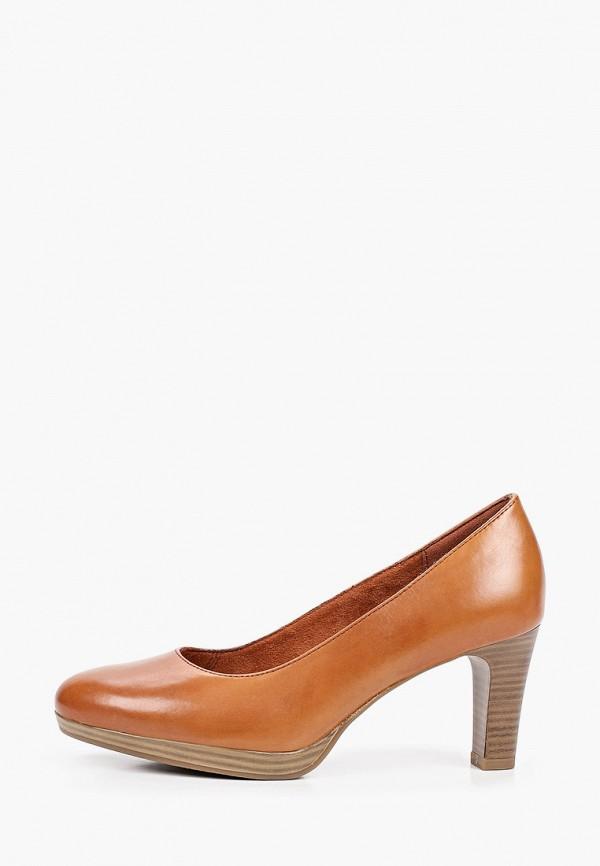 женские туфли с закрытым носом tamaris, коричневые