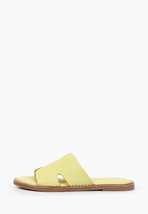 женское сабо tamaris, зеленое