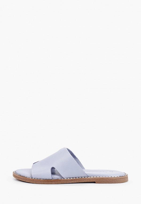 женское сабо tamaris, голубое