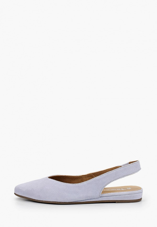 женские туфли tamaris, голубые