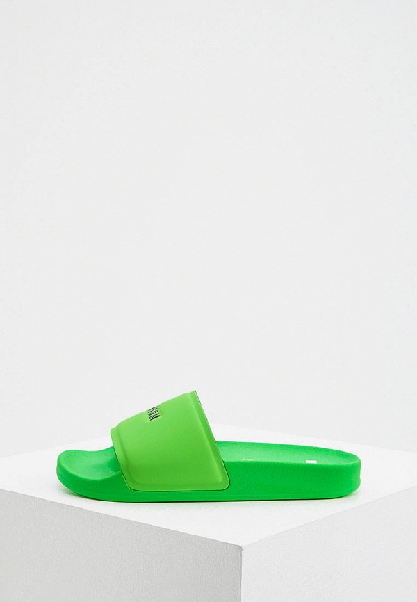 женские сланцы msgm, зеленые