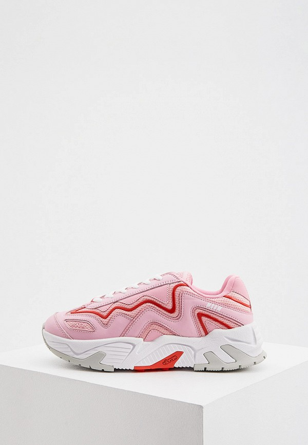 женские низкие кроссовки msgm, розовые