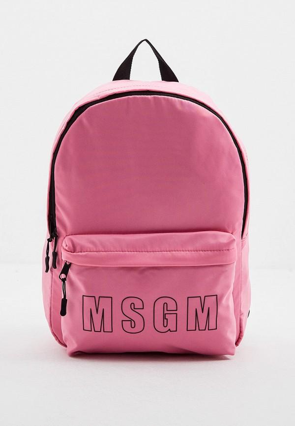 женский рюкзак msgm, розовый
