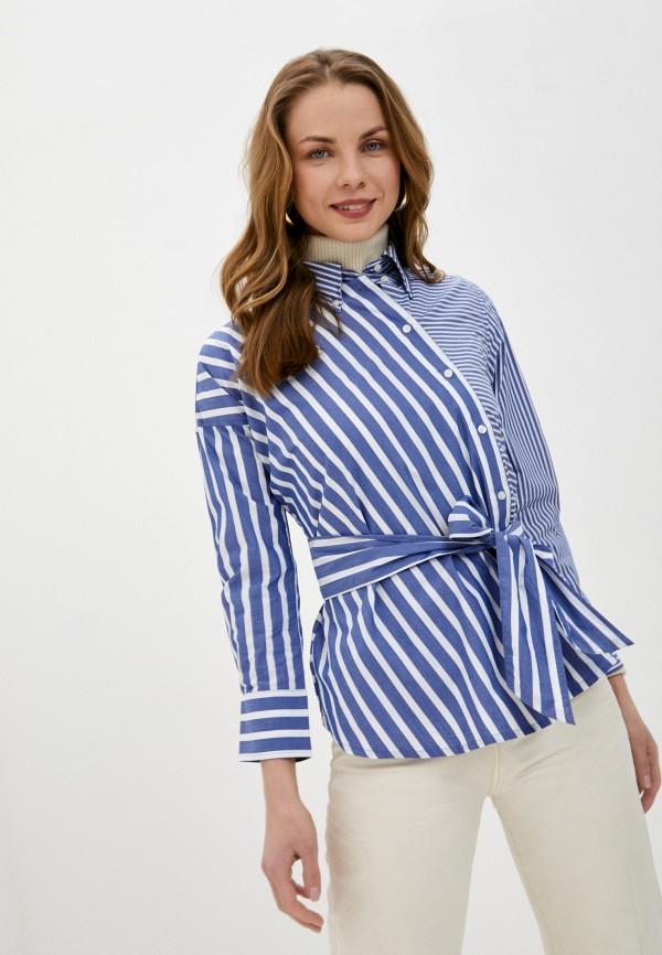 женская блузка gant, синяя