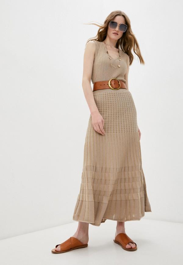 женское платье pinko, бежевое