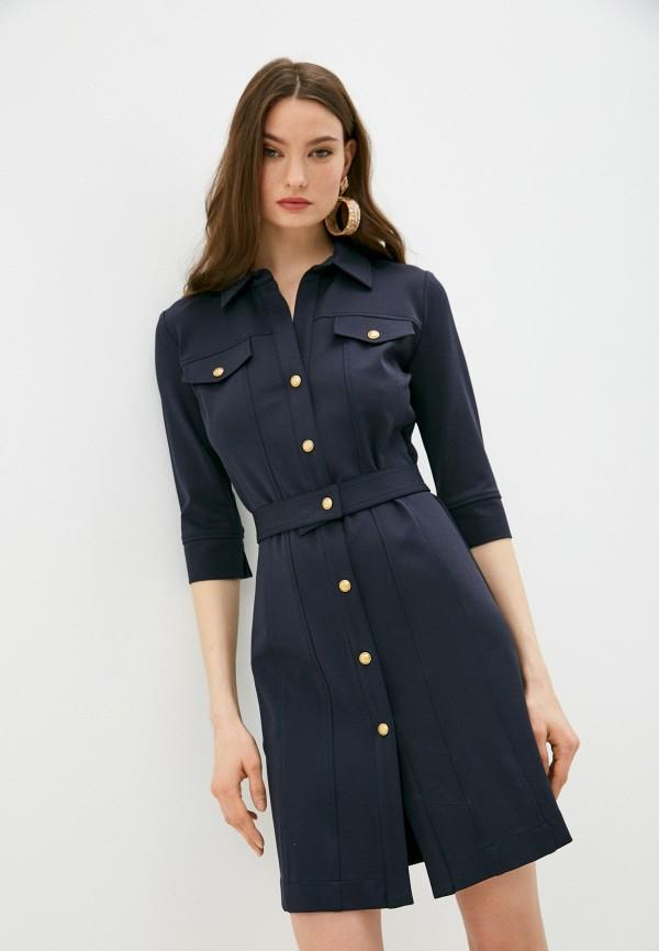 женское платье pinko, синее