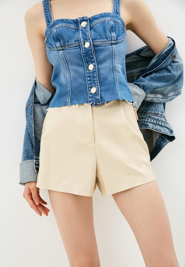 женские повседневные шорты pinko, бежевые