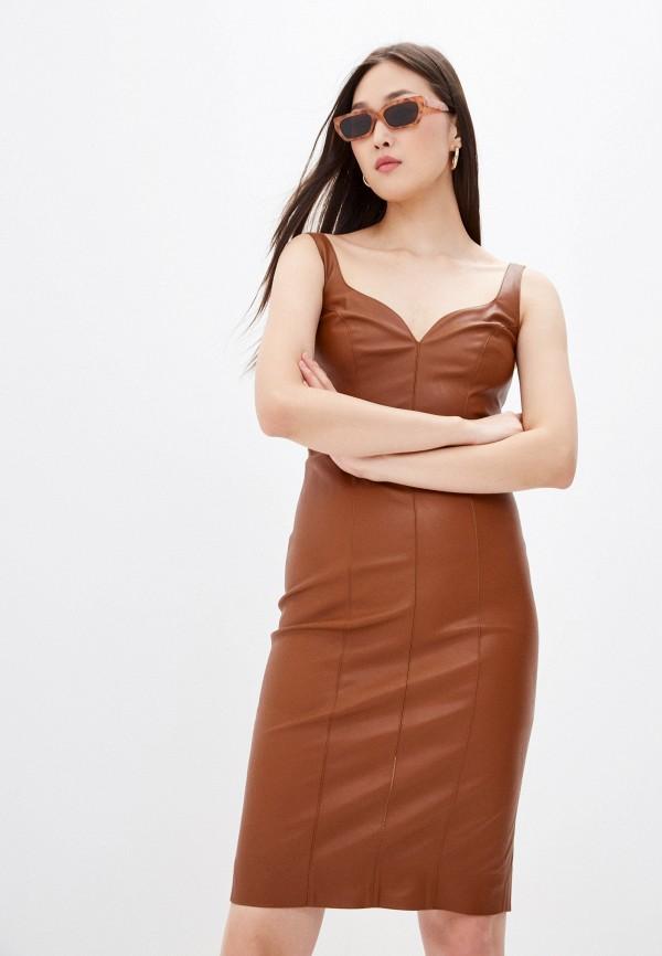женское платье pinko, коричневое