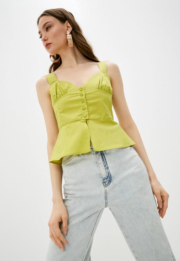 женская блузка pinko, зеленая