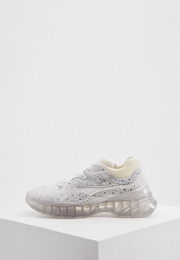 женские низкие кроссовки pinko, серебряные