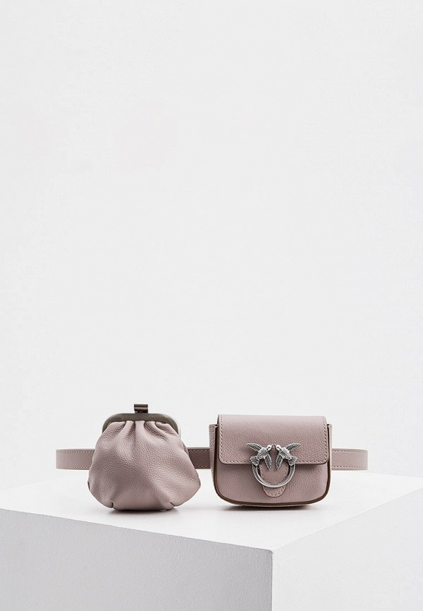 женская поясные сумка pinko, фиолетовая
