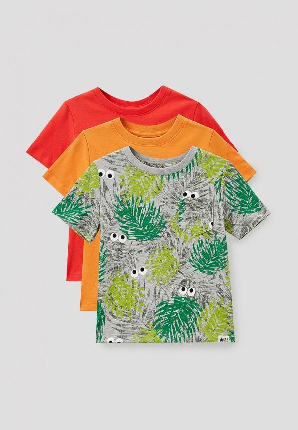 футболка gap для мальчика, разноцветная