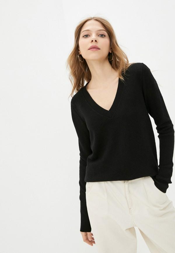 женский пуловер gap, черный