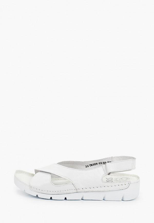 женские сандалии der spur, белые