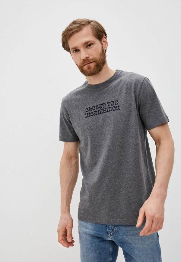 мужская футболка closed, серая