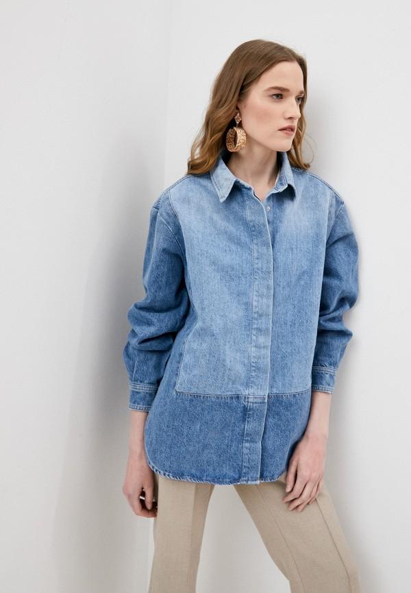 женская джинсовые рубашка closed, голубая