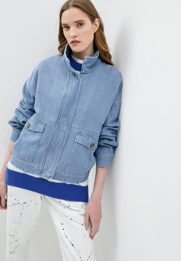 женская джинсовые куртка closed, голубая