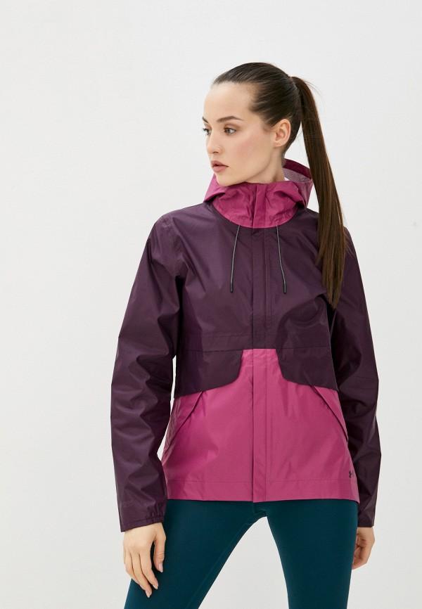 женская спортивные куртка under armour, фиолетовая