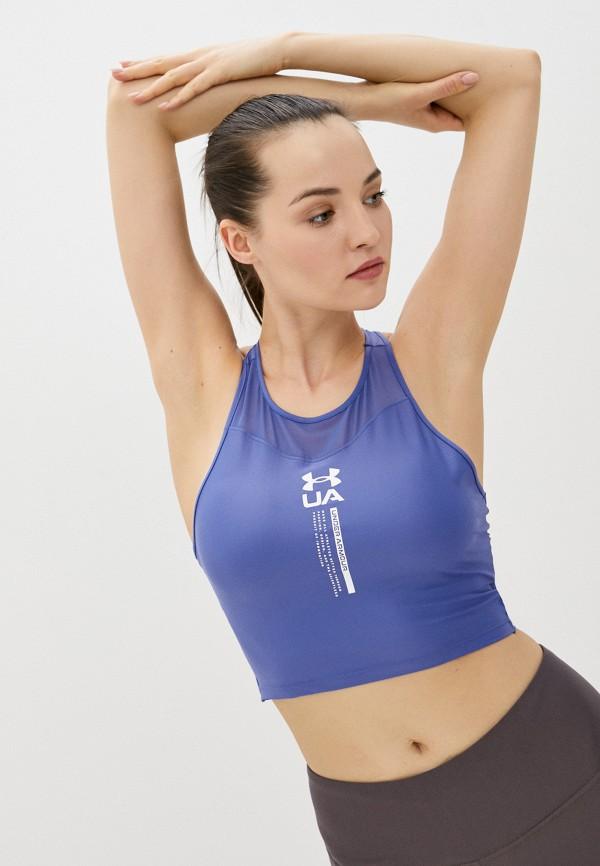 женская спортивные майка under armour, синяя