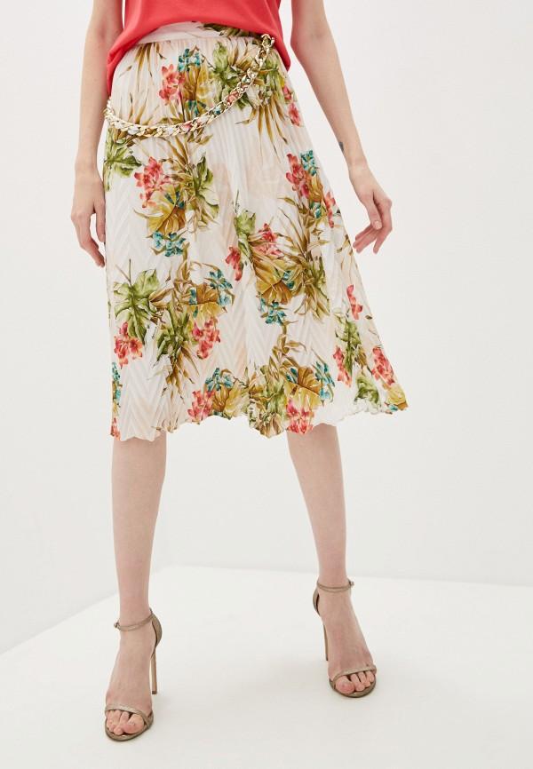 женская плиссированные юбка guess by marciano, разноцветная