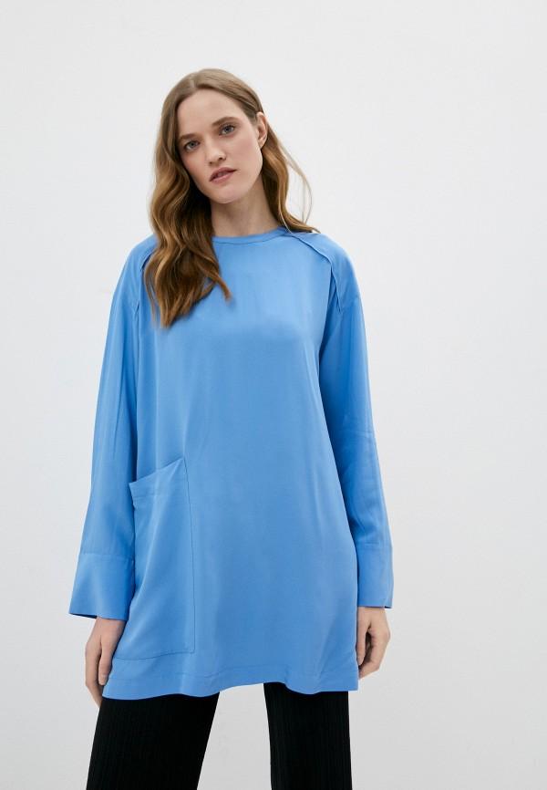 женская блузка bimba y lola, синяя