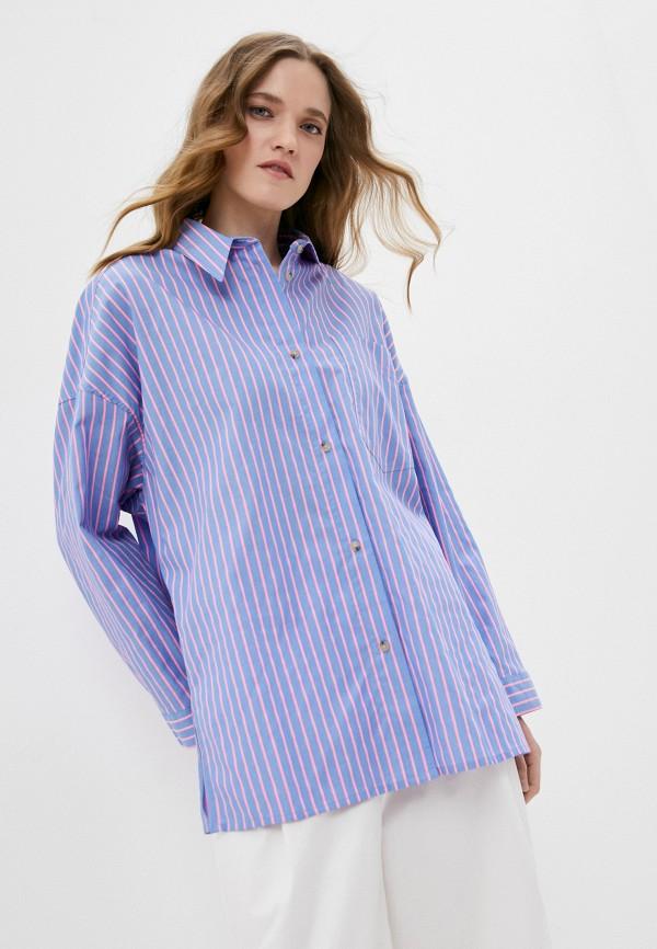 женская рубашка с длинным рукавом bimba y lola, голубая