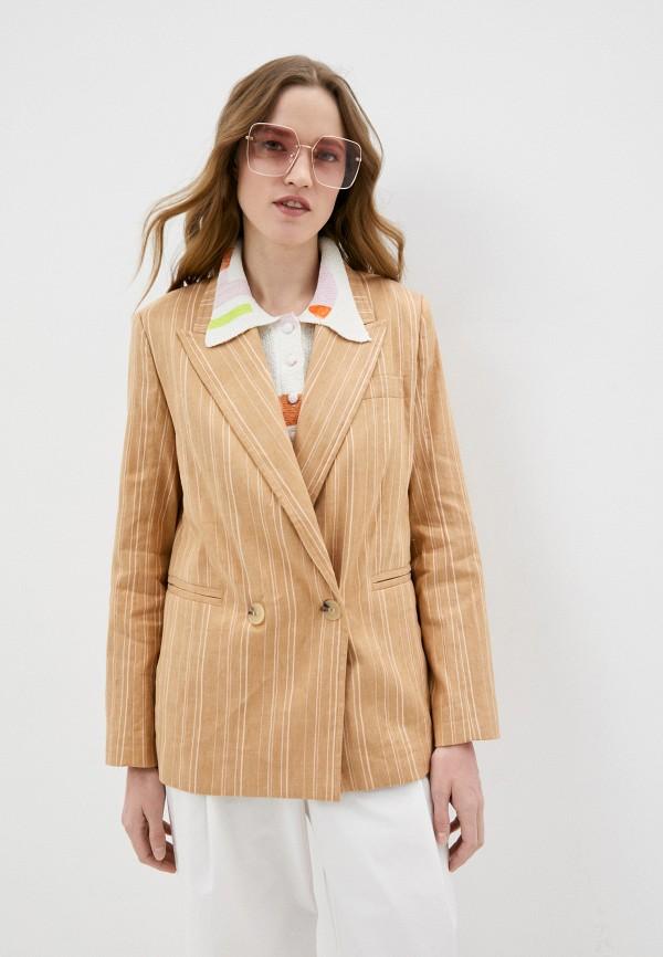 женский пиджак bimba y lola, коричневый