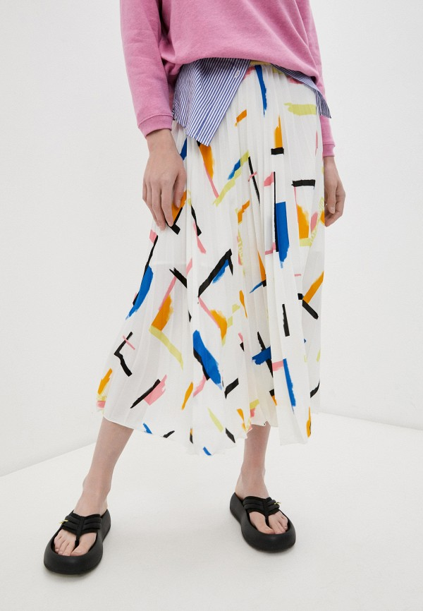 женская плиссированные юбка bimba y lola, белая