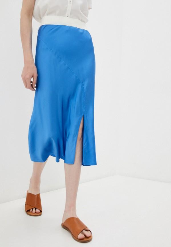 женская прямые юбка bimba y lola, синяя
