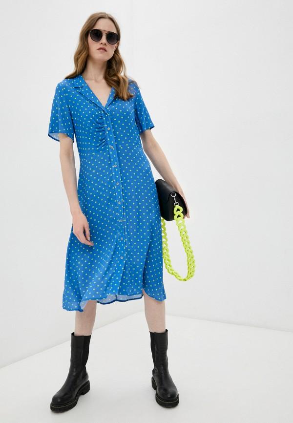 женское повседневные платье bimba y lola, голубое