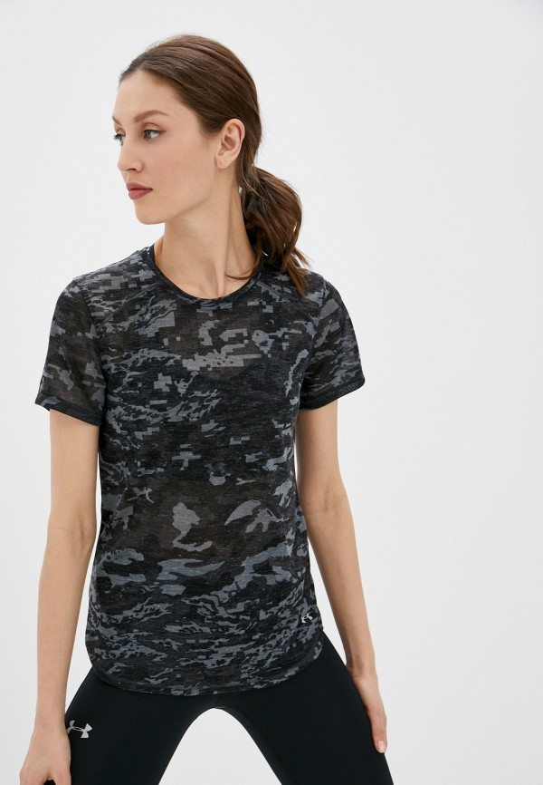 женская спортивные футболка under armour, серая